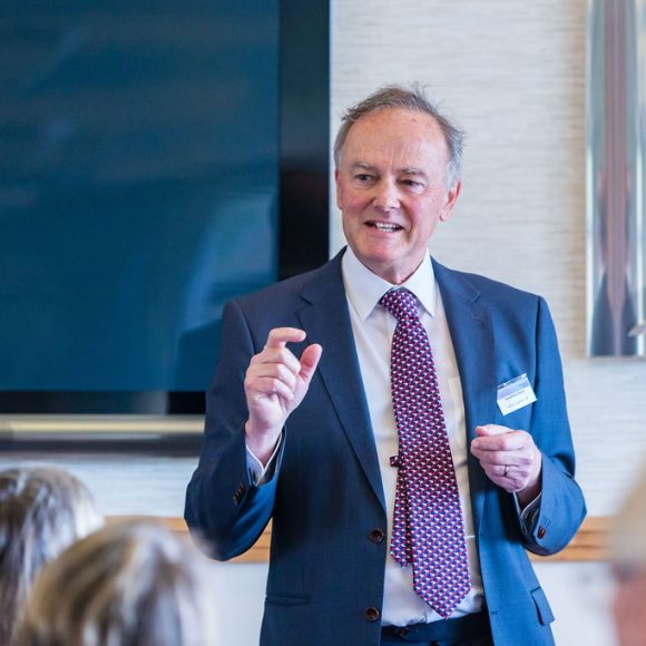 Jonathan Davis of Clifton Ingram LLP congratulated on his retirement at March meeting
